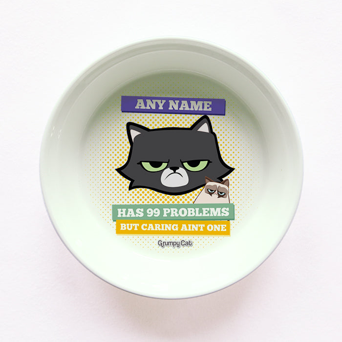 Grumpy Cat 99 Problems Cat Bowl