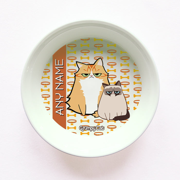 Grumpy Cat Bone Collar Cat Bowl