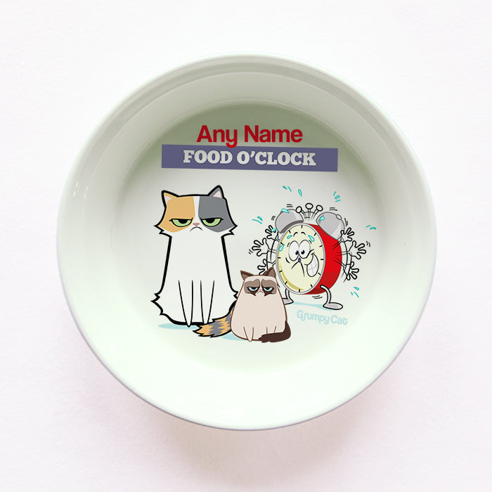 Grumpy Cat Food O'Clock Cat Bowl