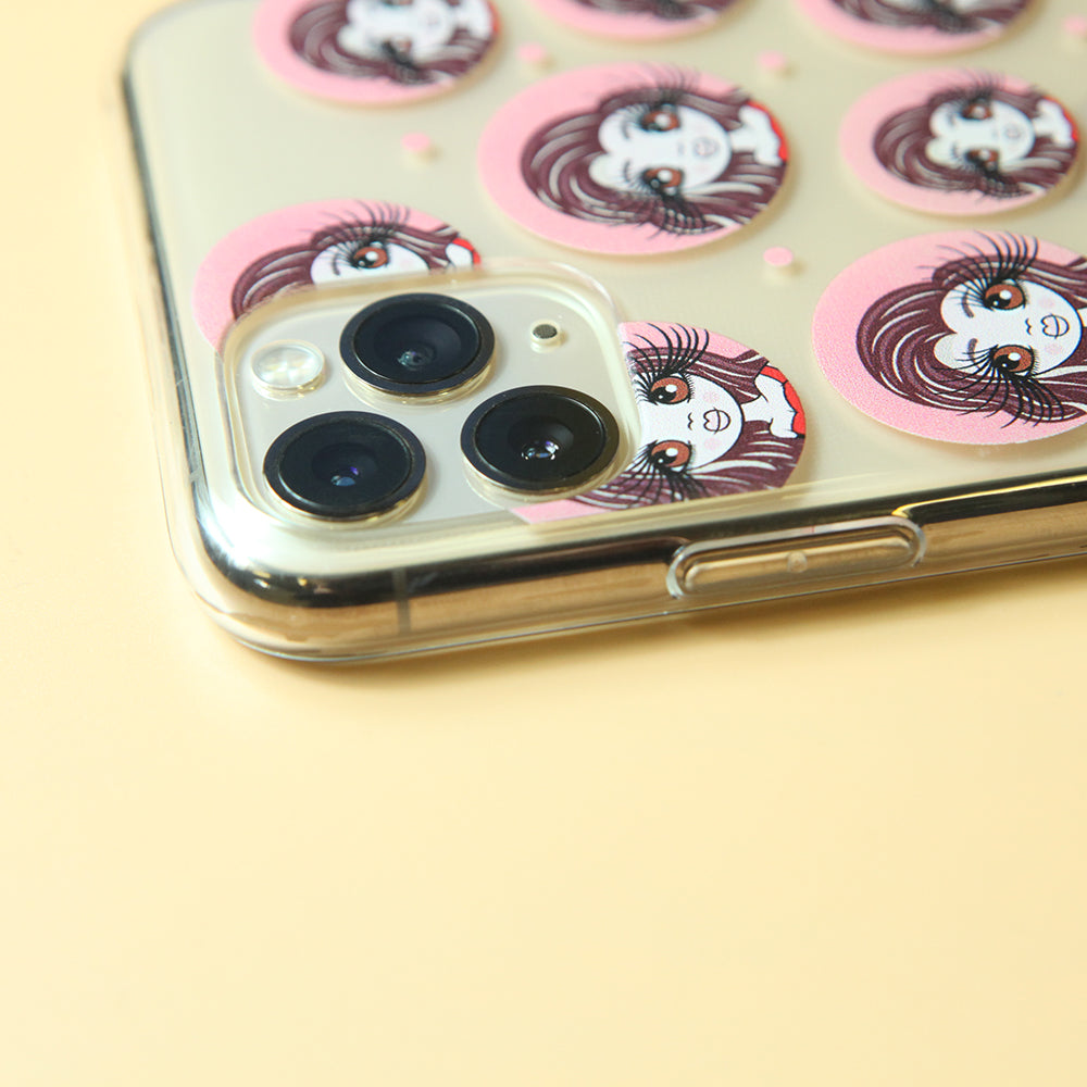 ClaireaBella Marble Print Clear Soft Gel Phone Case