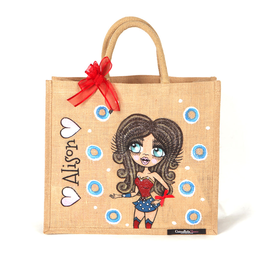 ClaireaBella Large WonderMum Jute Bag