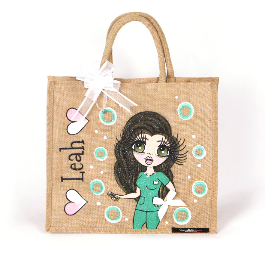 ClaireaBella Nurse Scrubs Jute Bag - Large