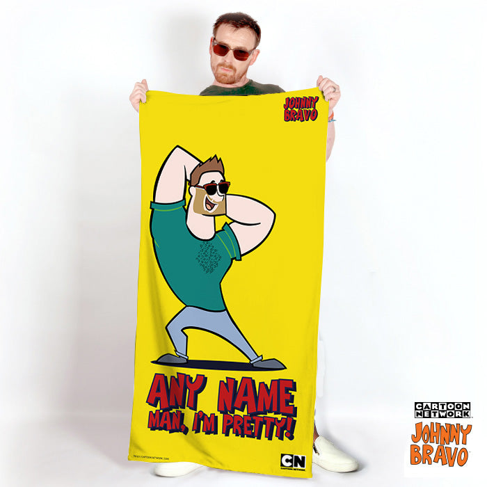 Johnny Bravo Guys Bold Yellow Beach Towel