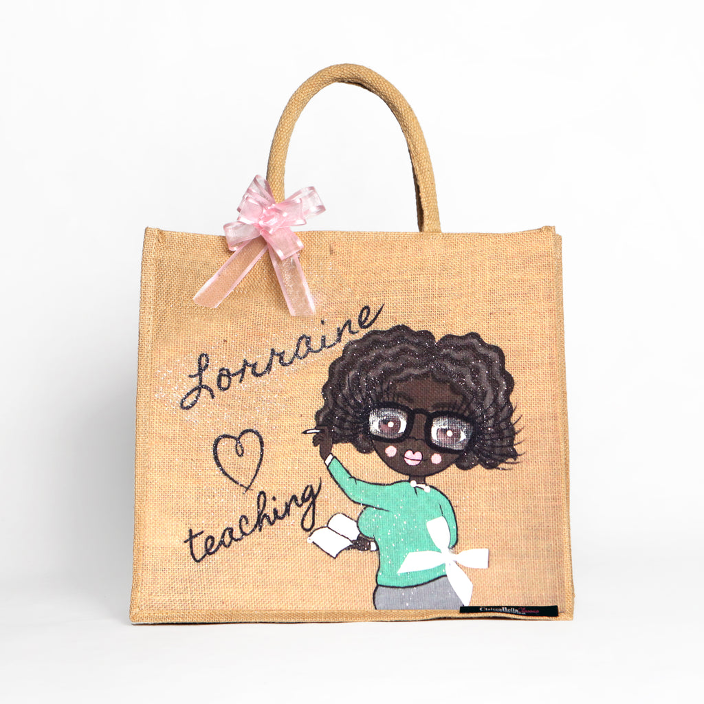 ClaireaBella Special Edition Teacher Jute Bag - Large