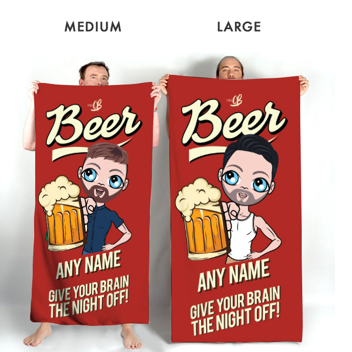 MrCB Beer Brain Beach Towel