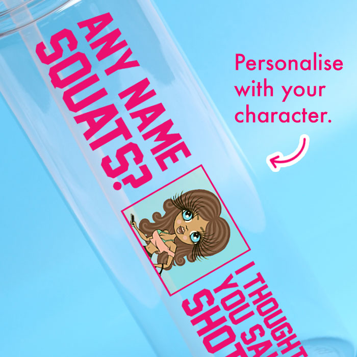 ClaireaBella Squats Water Bottle