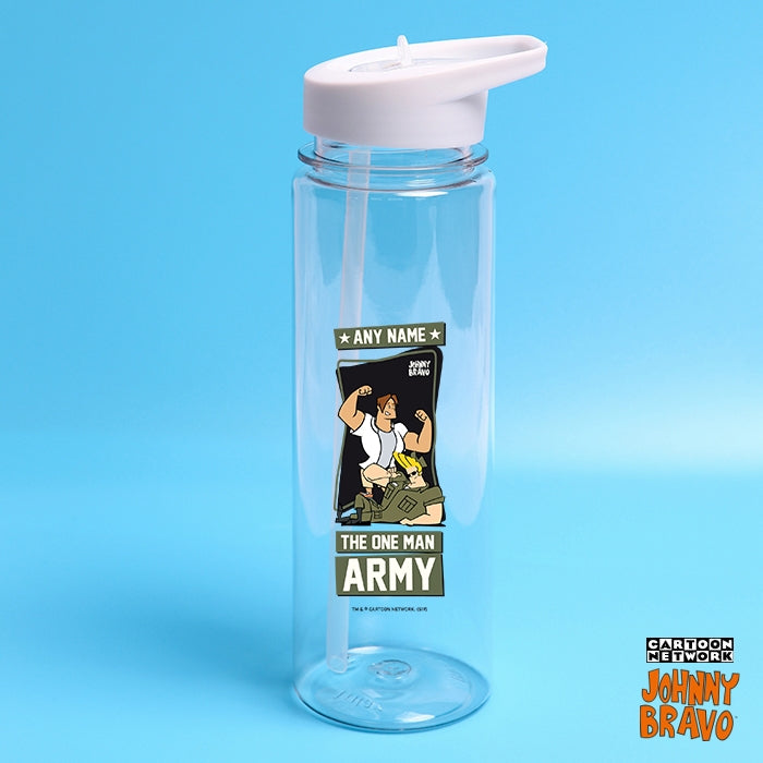 Johnny Bravo Guys One Man Army Water Bottle - Image 1
