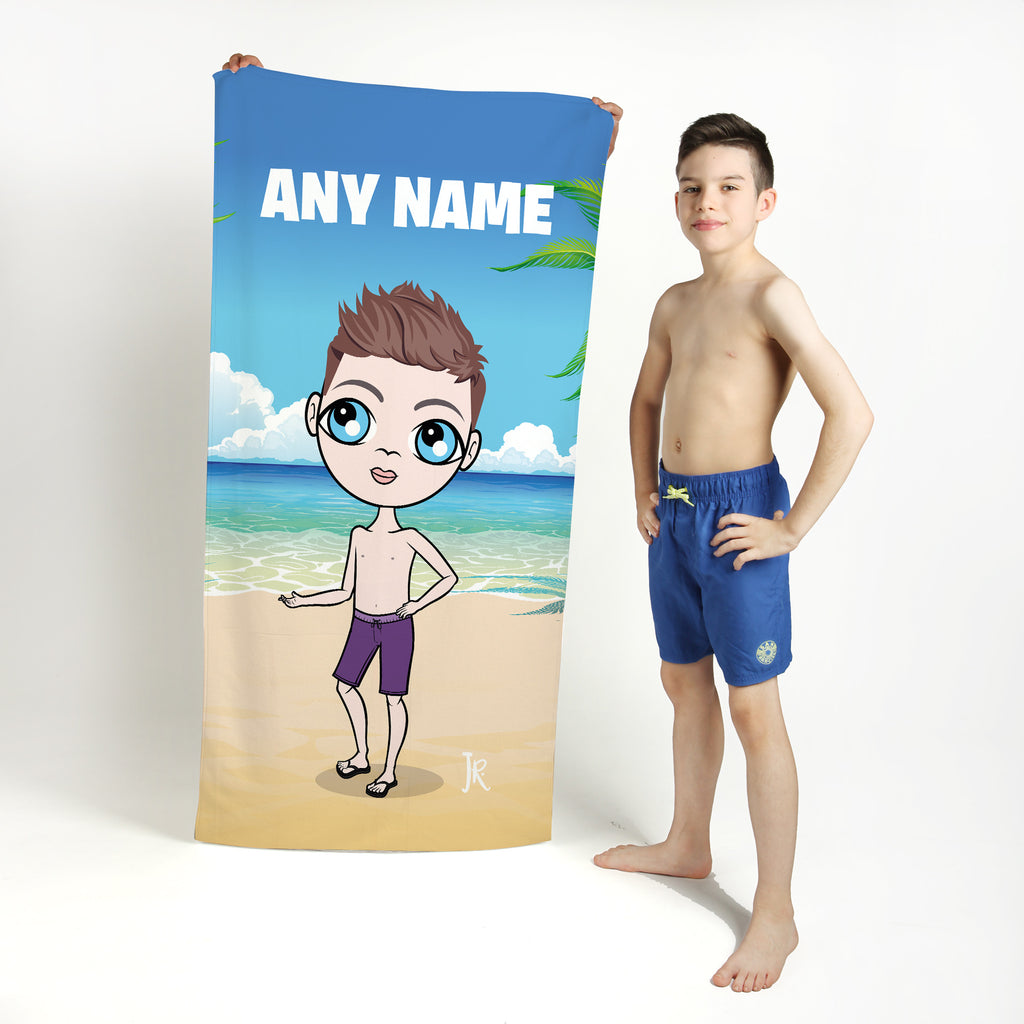 Jnr Boys Seaside Beach Towel