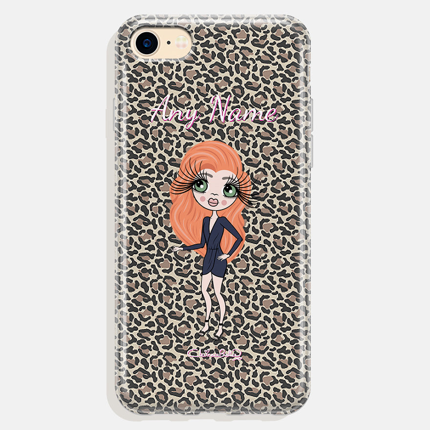 ClaireaBella Personalised Leopard Print Phone Case