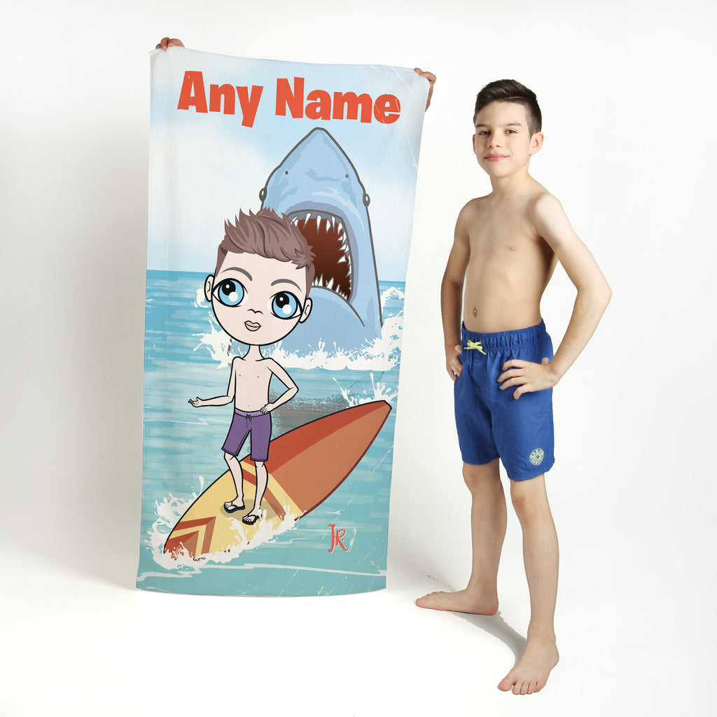 Jnr Boys Shark Attack Beach Towel