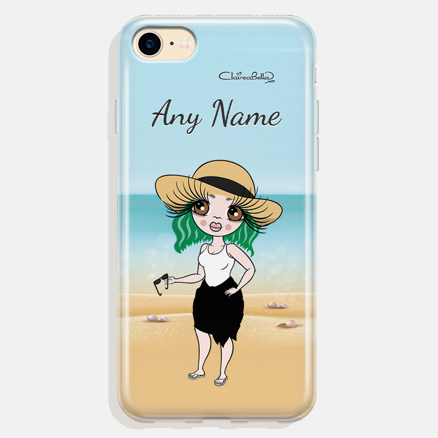 ClaireaBella Personalised Beach Print Phone Case