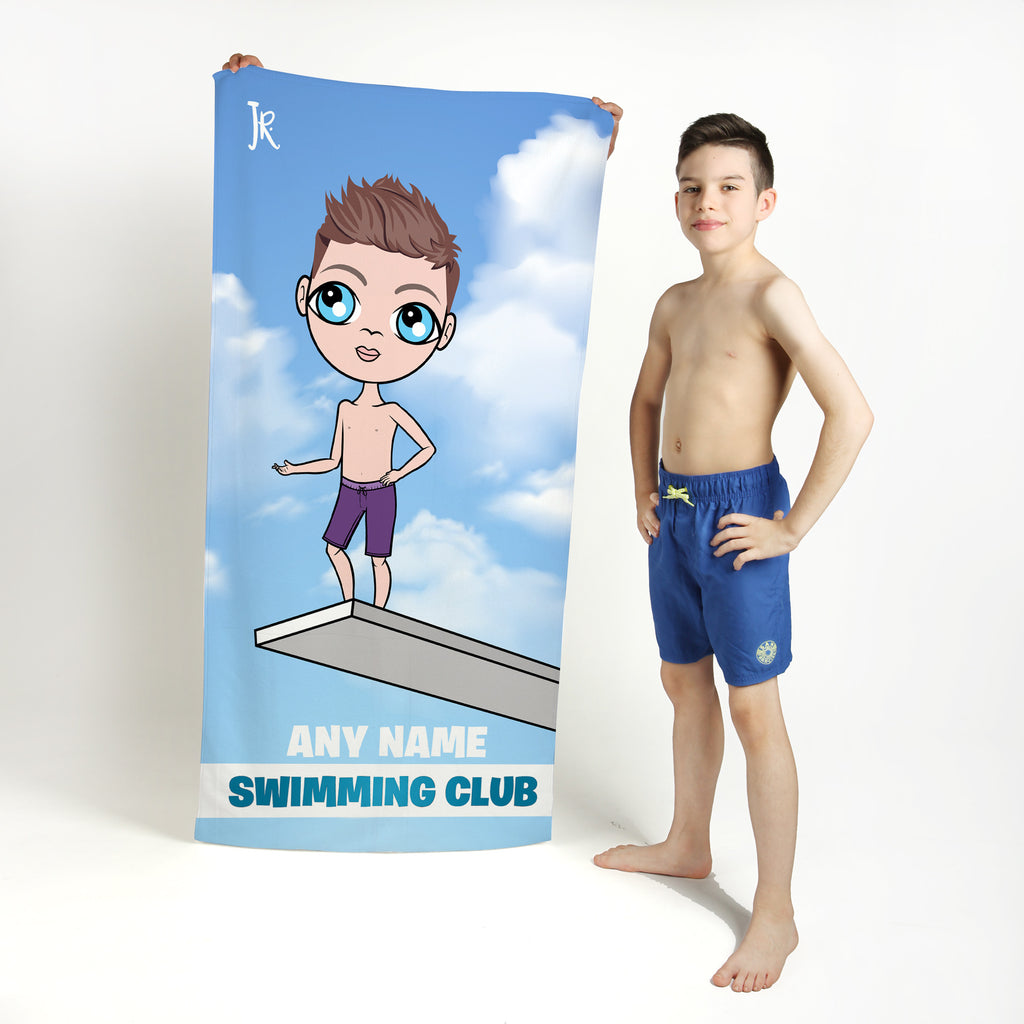 Jnr Boys Diving Board Swimming Towel