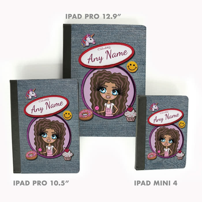 ClaireaBella Girls Denim Effect iPad Case - Image 5