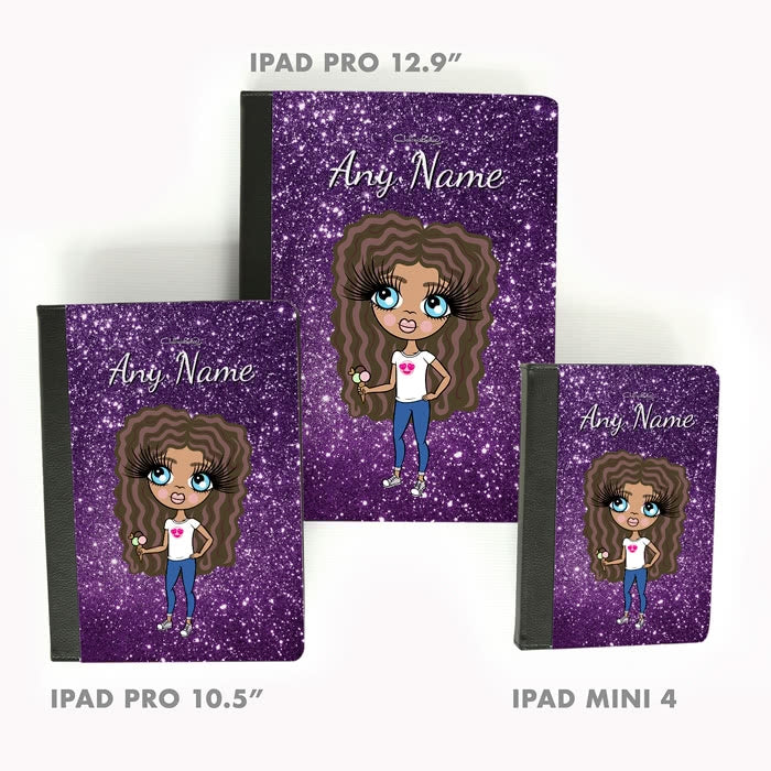 ClaireaBella Girls Glitter Effect iPad Case - Image 5