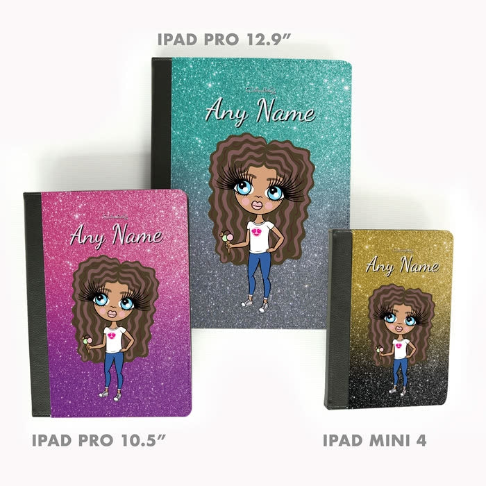 ClaireaBella Girls Ombre Glitter Effect iPad Case - Image 5