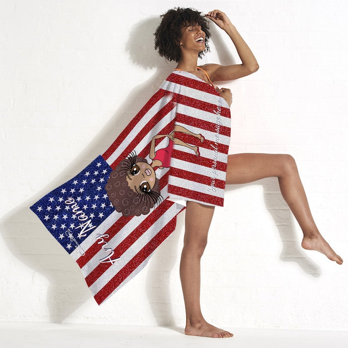ClaireaBella Stars & Stripes Beach Towel - Image 5