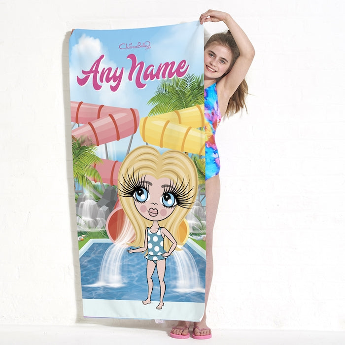 ClaireaBella Girls Aqua Park Beach Towel - Image 1