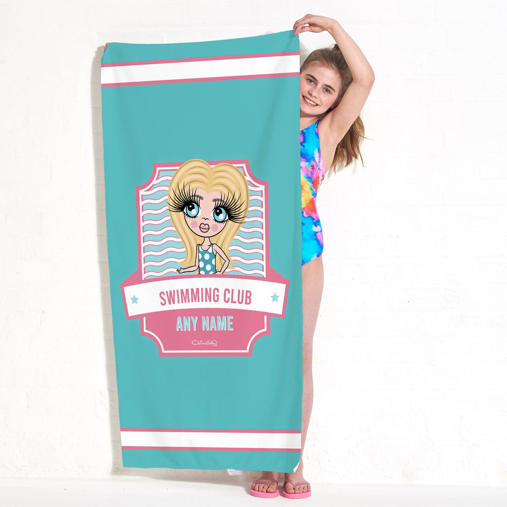 ClaireaBella Girls Emblem Swimming Towel - Image 3