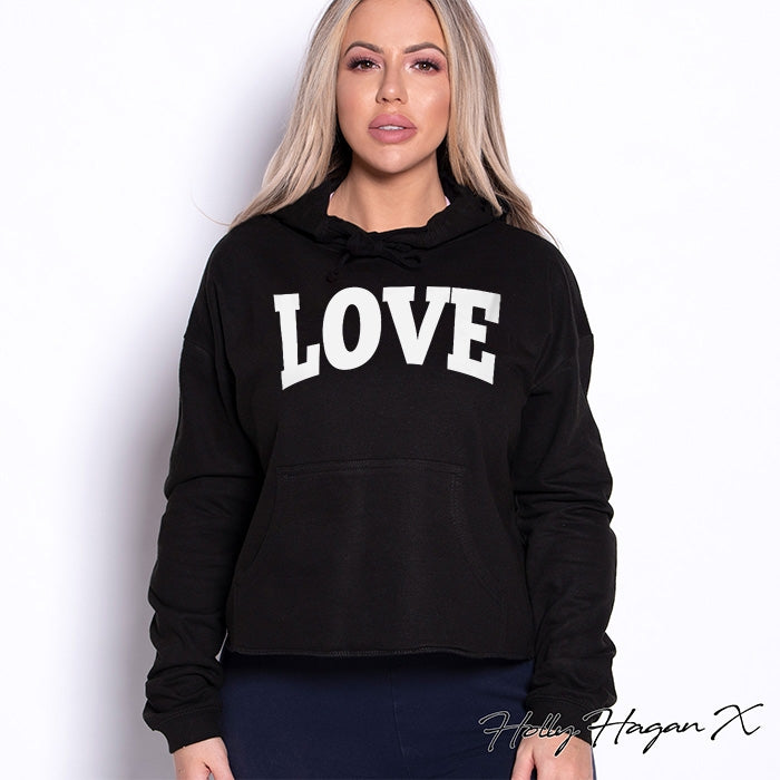 Holly Hagan X Love Cropped Hoodie - Image 6
