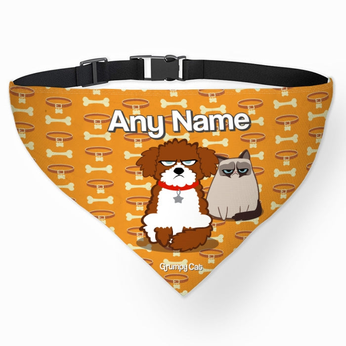Grumpy Cat Bone Collar Pet Bandana - Image 2