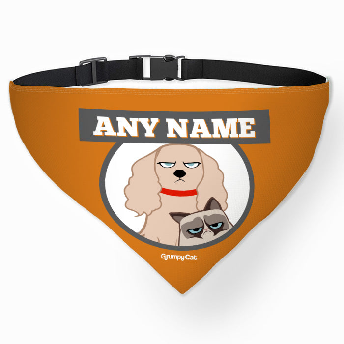 Grumpy Cat Orange Pet Bandana