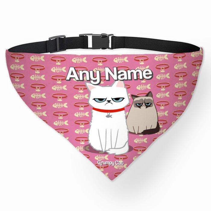 Grumpy Cat Fish Collar Pet Bandana - Image 1