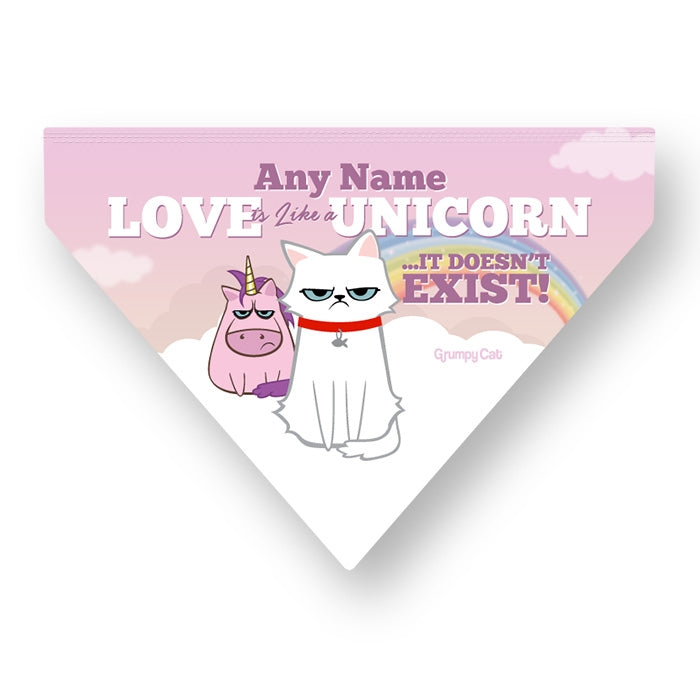Grumpy Cat Unicorn Pet Bandana - Image 4
