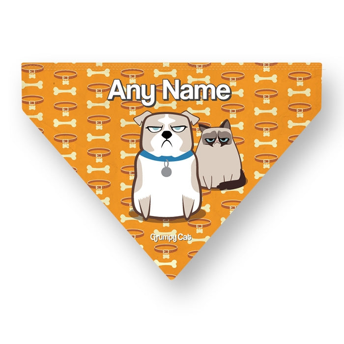 Grumpy Cat Bone Collar Pet Bandana - Image 4