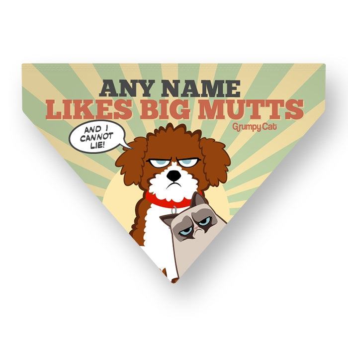 Grumpy Cat Big Mutts Pet Bandana - Image 4