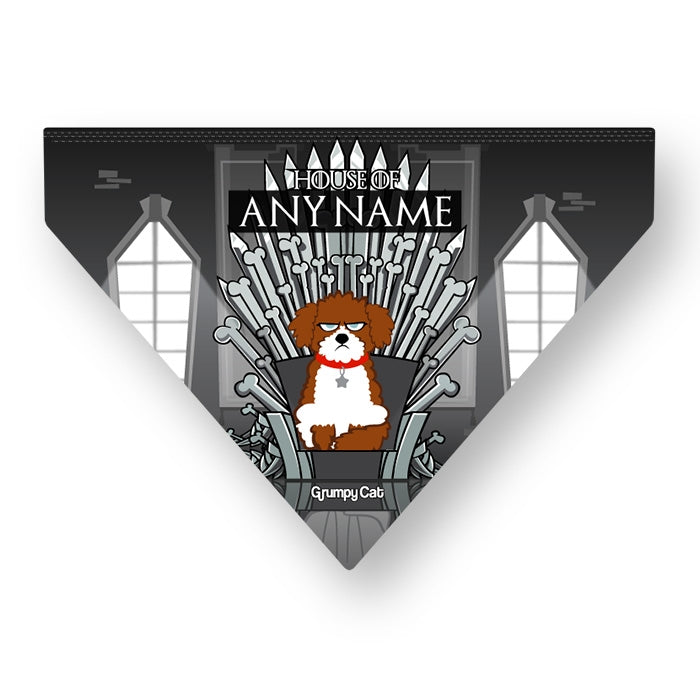 Grumpy Cat Throne Of Bones Pet Bandana - Image 3