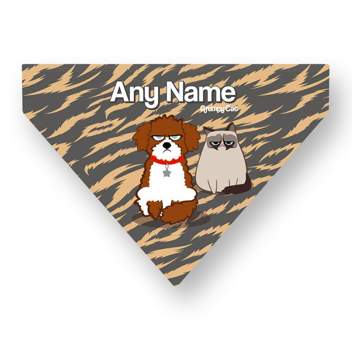 Grumpy Cat Animal Print Pet Bandana - Image 4