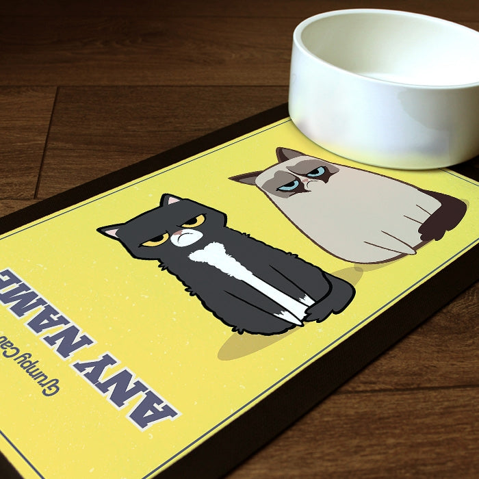 Grumpy Cat Yellow Pet Mat - Image 1