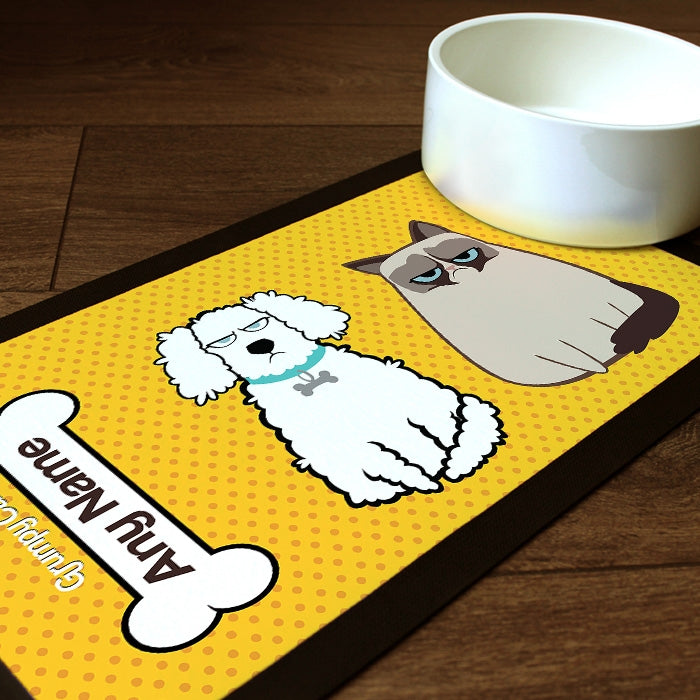 Grumpy Cat Polka Dot Pet Mat - Image 1