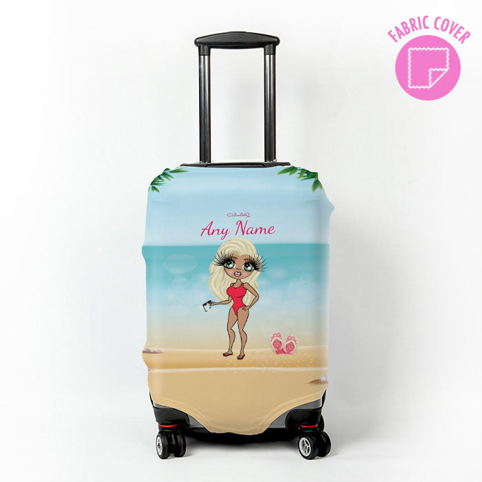 ClaireaBella Beach Print Suitcase Cover