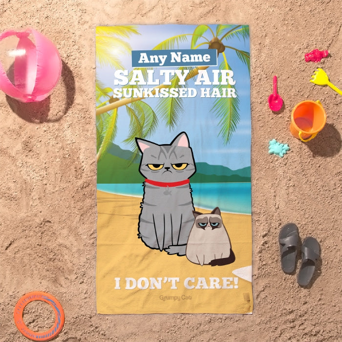 Grumpy Cat Sunkissed Beach Towel - Image 3