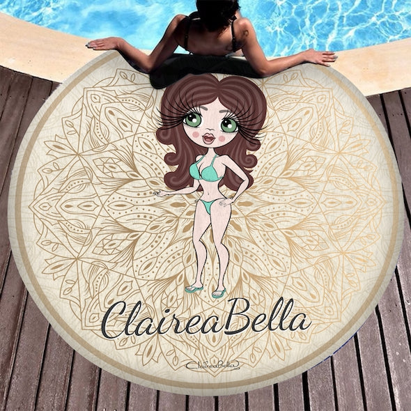 ClaireaBella Lace Print Circular Beach Towel - Image 1