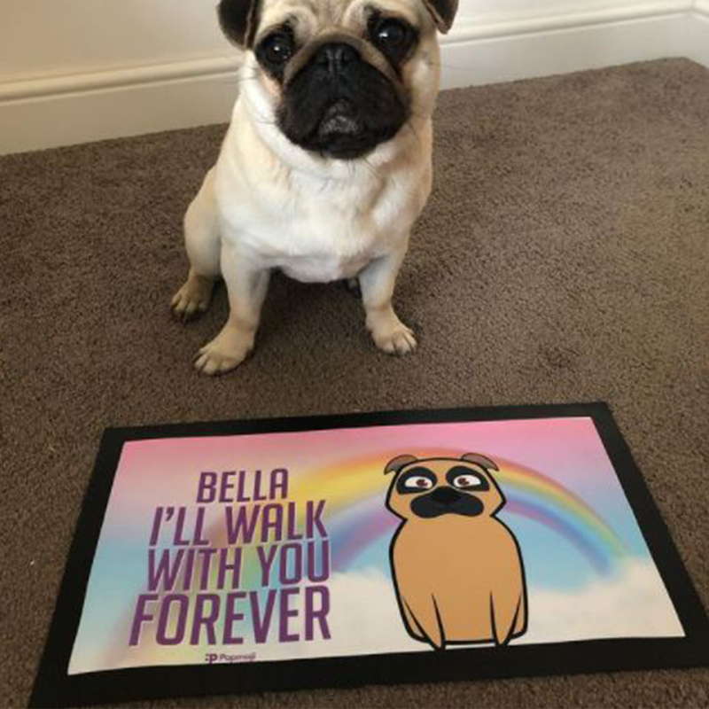 Personalised Dog Walk With You Forever Pet Mat