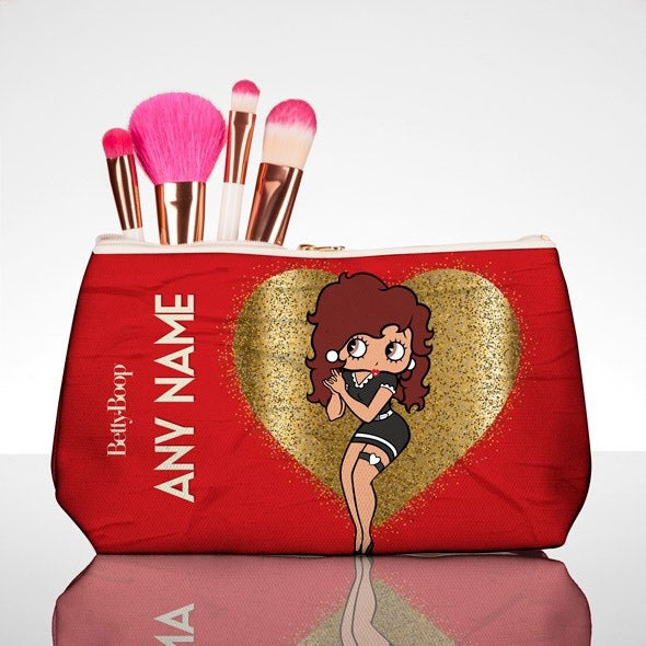 Betty Boop Glitzy Heart Make Up Bag - Image 1