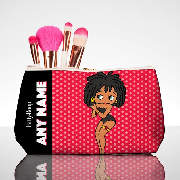 Betty Boop Polka Dot Make Up Bag - Image 1