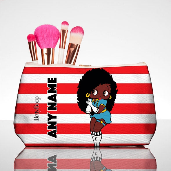Betty Boop Candy Stripe Make Up Bag - Image 1