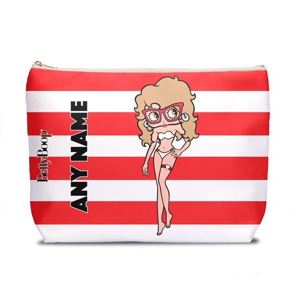 Betty Boop Candy Stripe Wash Bag - Image 1