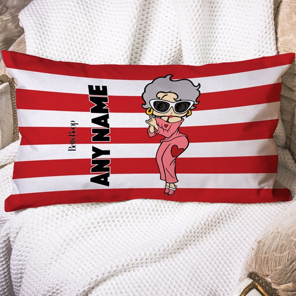 Betty Boop Candy Stripe Placement Cushion - Image 1