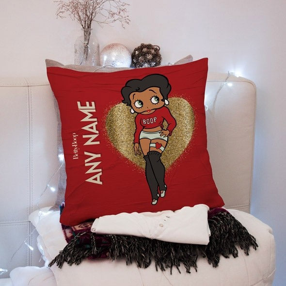 Betty Boop Glitzy Heart Square Cushion - Image 1