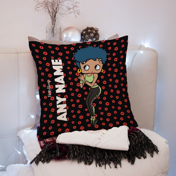 Betty Boop A Thousand Kisses Square Cushion - Image 1