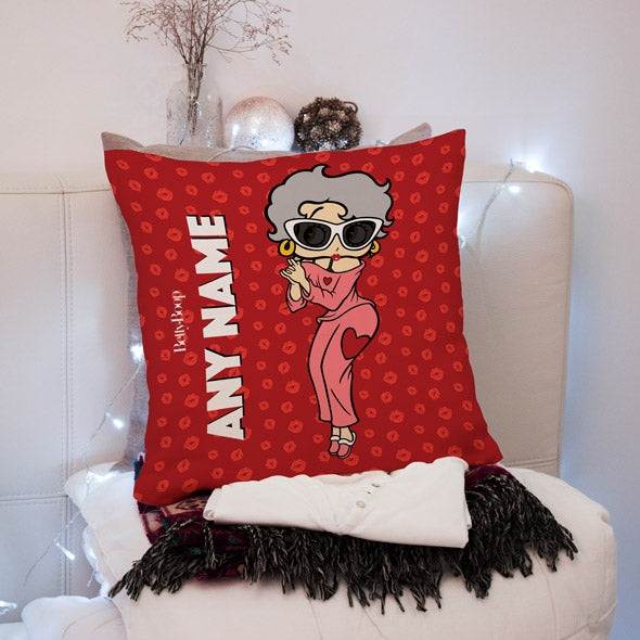 Betty Boop A Thousand Kisses Square Cushion - Image 2
