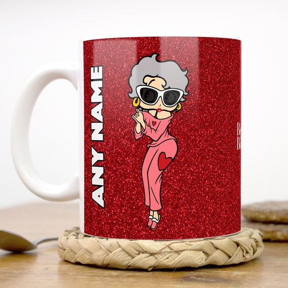 Betty Boop Red Glitter Effect Mug - Image 1