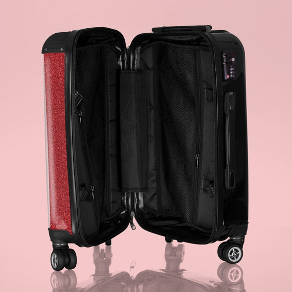 Betty Boop Red Glitter Effect Suitcase - Image 3