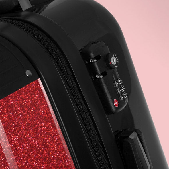 Betty Boop Red Glitter Effect Suitcase - Image 5