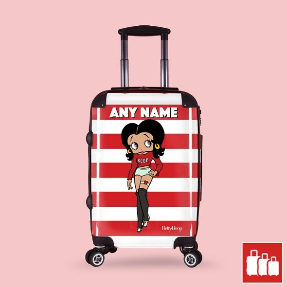 Betty Boop Candy Stripe Suitcase - Image 1