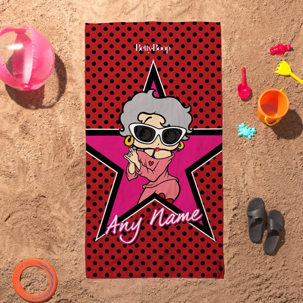 Betty Boop Polka Star Beach Towel - Image 2